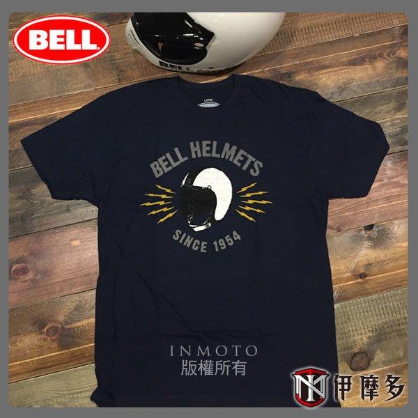 伊摩多※美國 BELL BOLT NAVY 藍 100% 綿 短T恤 現貨~另有其他款!! 安全帽圖案 翅膀