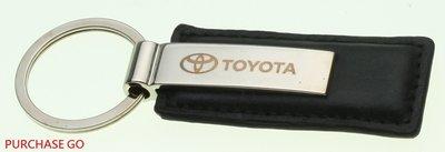 ☆Purchase GO☆ 皮革鑰匙圈 皮革鎖匙圈 鑰匙釦 黑色款 TOYOTA 豐田