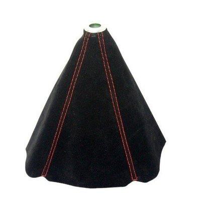 K 黑貓車部品~黑色反皮車紅線排檔套 通用型,手排車可以用,自排改手排LOOK 也可用