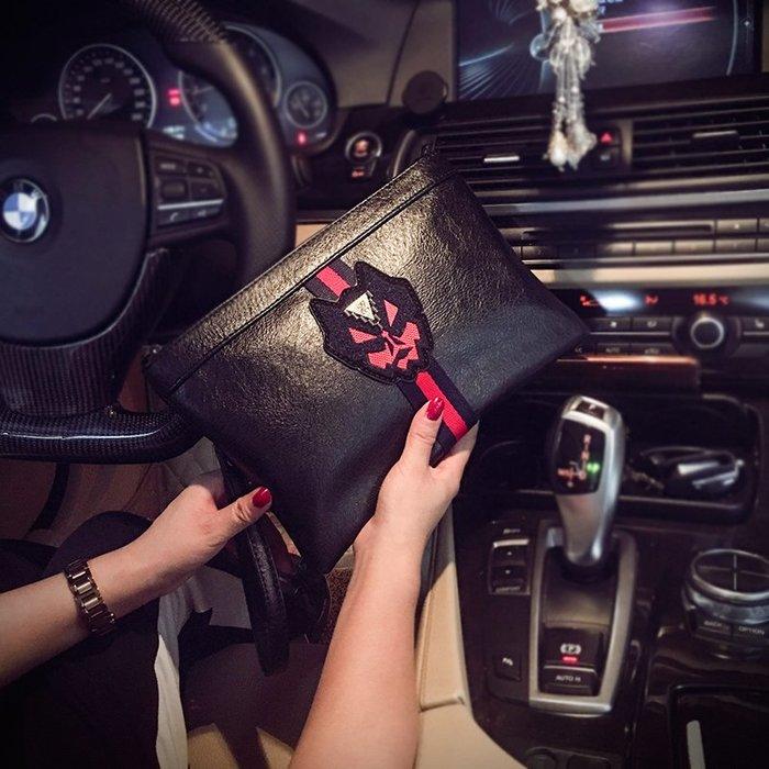 個性圖案韓版手拿包 潮流時尚個性手抓包 男女手包信封包手腕包潮 11NLD93