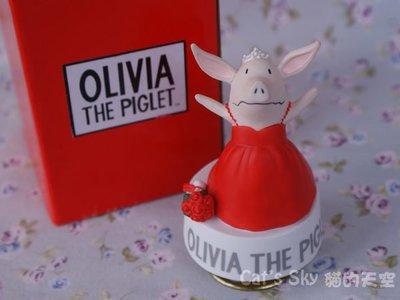 《Cat Sky》日本進口OLIVIA THE PIGLET 奧莉薇小豬旋轉陶瓷音樂鈴.歌姬