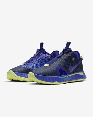 NIKE PG 4 EP 男款 籃球鞋 白黑配色 拉鍊式結構 藍色 CD5086-500 全新預購