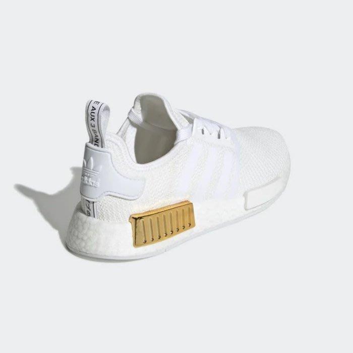 POMELO柚 Adidas NMD_R1 EG6703 BOOST 白金色 愛迪達 休閒運動鞋 女鞋 白金色
