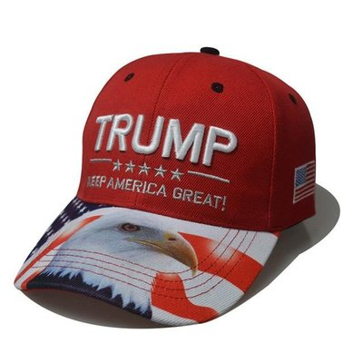 【PD帽饰】外貿亞馬遜熱銷款特朗普同款棒球帽美國大選USA老鷹川普帽子定制