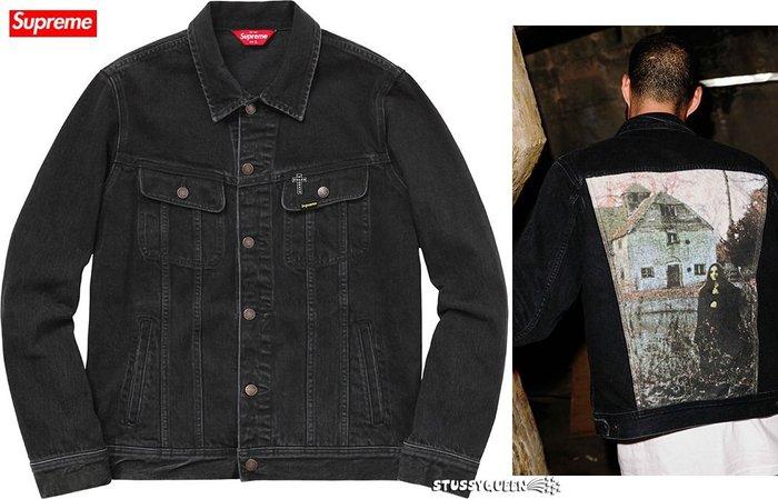 【超搶手】2016聯名Supreme x Black Sabbath Denim Trucker Jacket外套 黑M