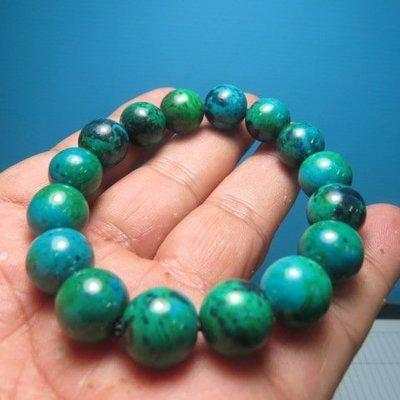 【競標網】天然罕見漂亮蘇聯綠藍寶石手珠12mm(回饋價便宜賣)限量20組(賣完恢復原價250元)
