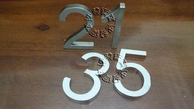 速發~切割訂製阿拉伯數字英文字國字圖案~耐候性鋼板~鍍鋅板不鏽鋼不銹鋼板 藝術招牌門牌~標示牌~耐蝕板~生鏽板~
