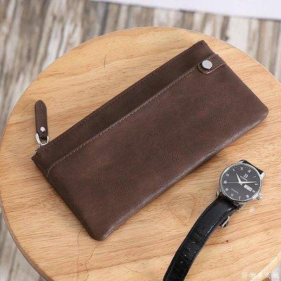好物多商城 新款韓版青年錢包時尚皮質中長款錢夾大容量手機包多卡位零錢包
