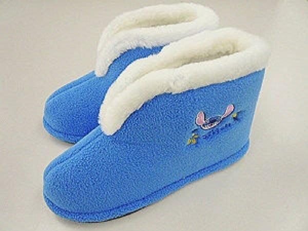 ~FUJIJO~現貨~限時特惠價~日本DISNEY專賣【 Stitch史迪奇】冬天高筒 毛毛 超暖和舒適室內拖鞋