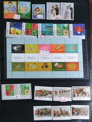 特價商品 外國郵票 紐西蘭 二頁 01...