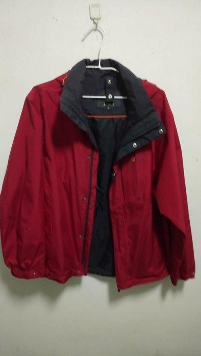法國 AIGLE Gore-Tex 紅色單件式防風防水透氣外套 S號