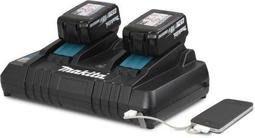 【欣瑋】Makita 牧田 DC18RD 18V 雙充電器 原廠 適用 MAKITA所有18V電池 滑軌式 USB