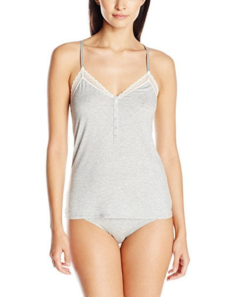 (禮盒裝) 全新真品 CK Calvin Klein 蕾絲背心內衣+平口內褲-灰色 S/M