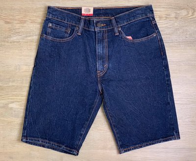 Look 鹿客 Levis 熱門 男款 505系列深藍丹寧短褲