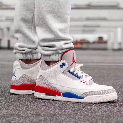 Air Jordan 3 Charity Game 白紅藍 AJ3 獨立日 136064-140 男鞋