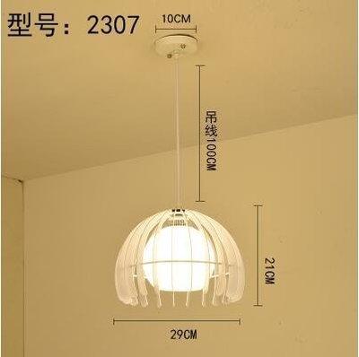 2307白色款北歐餐廳吊燈創意個性餐廳燈飯廳燈現代鐵藝