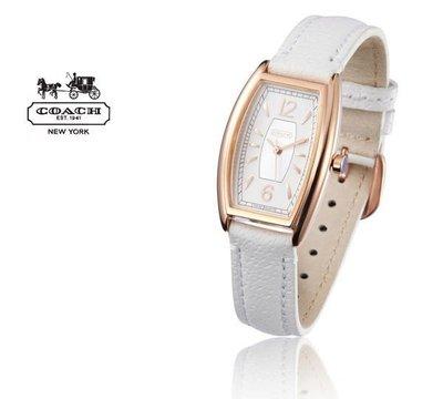 【Woodbury Outlet Coach 旗艦館】COACH 14500994 復古酒桶型女款手錶玫瑰金框 美國代購100%正品