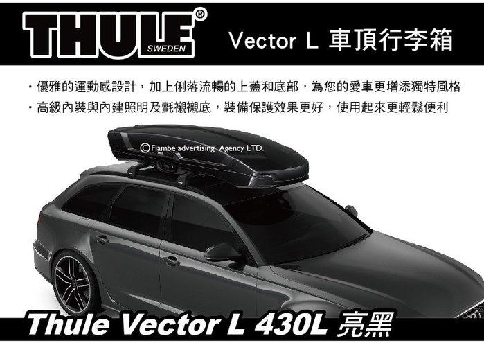 |MyRack|| 【預購95折】Thule Vector L 430L 亮黑 車頂行李箱 雙開車頂箱 613701