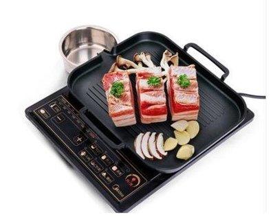【阿狸】小商鋪~電磁爐烤盤韓式鐵板燒烤肉盤牛排麥飯石陶搪瓷無煙家用韓國不粘鍋