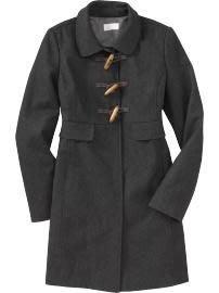 美國口碑老牌Old Navy Women s Wool-Blend Toggle Coats S號Tall含羊毛牛角釦合身長版大衣含運