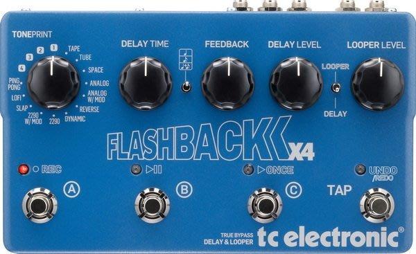 ☆ 唐尼樂器︵☆ TC Electronic Flashback X4 單顆 空間系 效果器