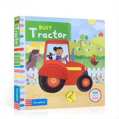 英文原版 Busy Books 系列 Tractor 忙碌的拖拉機 低幼趣味知識玩具書 兒童英語親子互動閱讀繪本 機關操