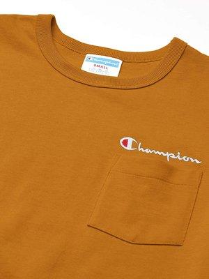 【YOYOGI PLUS】美線Champion Life® Pocket Tee 刺繡小草寫口袋短T (芥末黃) 台北市