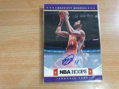 2012-13 Hoops 太陽 Markieff Morris 高比例 簽名卡