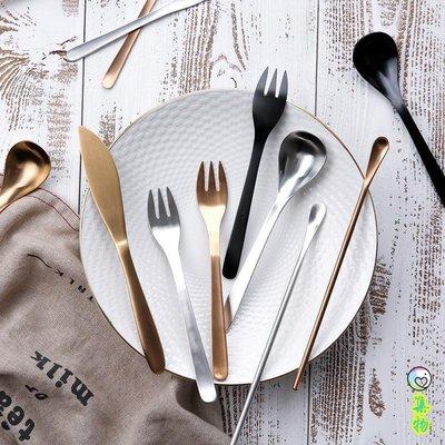 日式创意不锈钢三色西餐餐具牛排刀叉子勺子咖啡勺S-43
