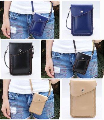 【GooMea】3免運Samsung 三星 A31 6.4吋 雙層斜背 掛脖 掛頸 皮套 手機套 保護套 藍黑