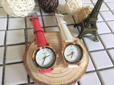 JULIUS 聚利時 星之語珍珠雲貝皮革手錶-26mm/二色任選 出清
