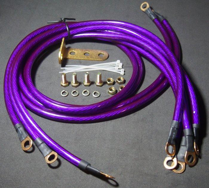紫色限定版 負極接地線 WISH TERCEL EXSIOR COLT PLUS ALTIS VIOS 適用