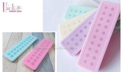 ☆[Hankaro]☆ 創意矽膠模具圓球方塊製冰盒20格有蓋製冰盒