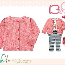 【B& G童裝】正品美國進口GYMBOREE 亞麻棉紅色針織長袖罩衫薄外套12-18-24mos