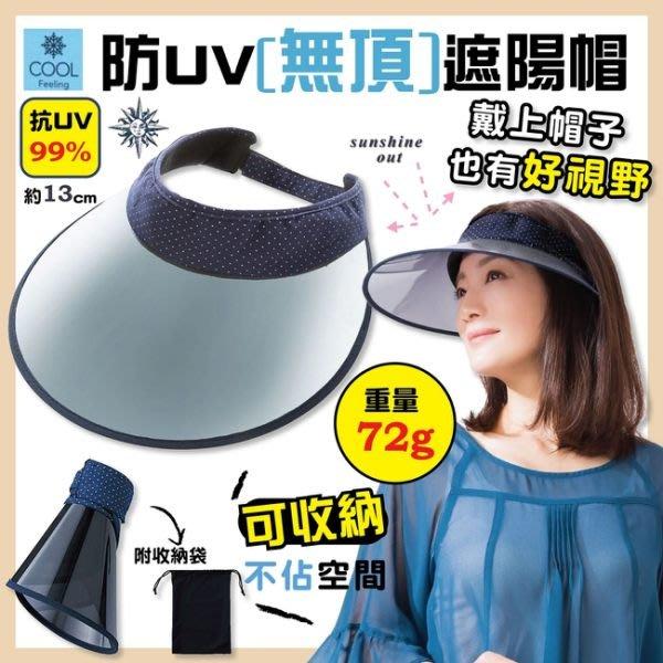COOL UV CUT 中空 防曬 遮陽帽 99% 抗UV 防紫外線