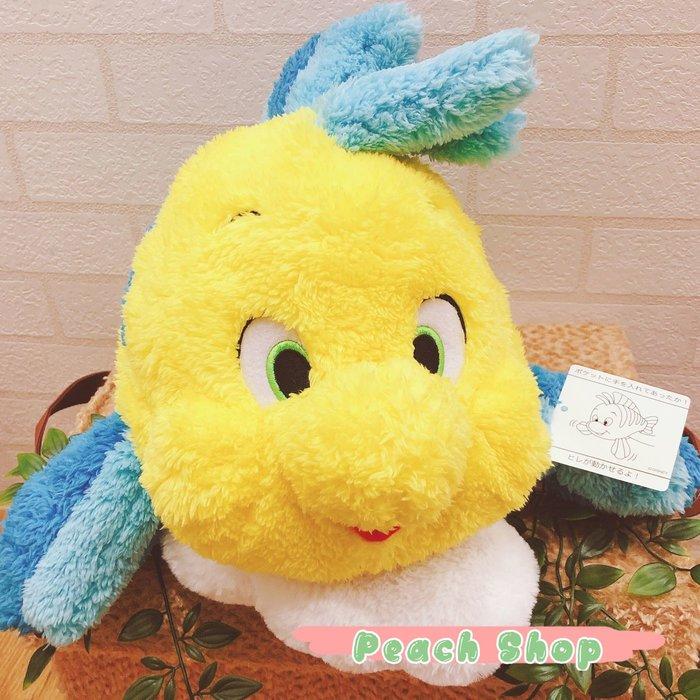 【桃子小舖 ♥ P.S 】美人魚之小比目魚造型暖手抱枕 東京迪士尼