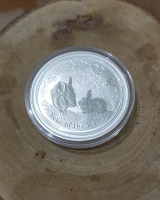 銀幣 紀念幣 2011 澳洲 兔  1 oz 999 純銀 [生肖系列]