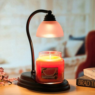 歐式燈罩融蠟燈+皮革提杯香氛蠟燭 組合 黑色