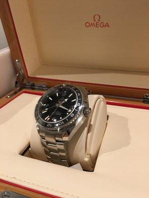 [全新真品] OMEGA SEAMASTER 海馬 PLANET OCEAN GMT 600M 鋼錶帶款