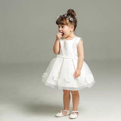 韓版女童蓬蓬 公主裙 畢業演出服 鋼琴演奏 花童 白色禮服 洋裝紗裙 008 還有多款冰雪奇緣