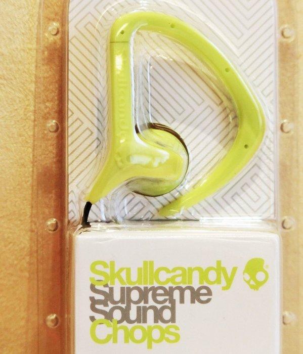 大降價!全新 Skullcandy Supreme Sound Chops 螢光綠色運動掛耳無麥克風耳塞式耳機,無底價!