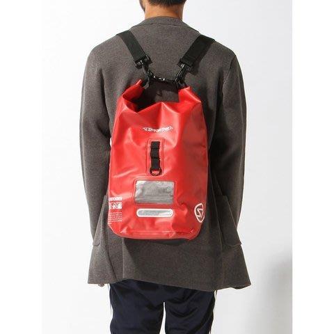 日本Stream Trail 戶外防水包新版方桶包Dry Cube 20L嗆辣紅Chilli 後背包(下雨登山騎車必備)