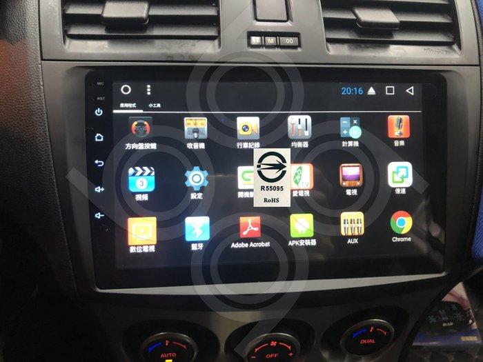 馬自達 Mazda3 馬3 -9吋安卓專用機.Android.觸控螢幕.usb.導航.網路電視.公司貨保固一年