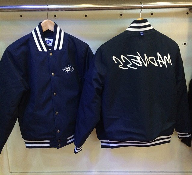 ☆AirRoom☆ 2016 MADNESS BASEBALL JACKET 保暖 風衣 棒外 深藍 現貨
