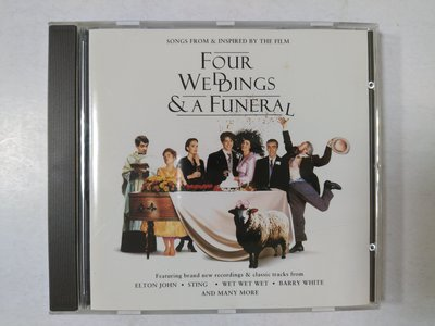 昀嫣音樂(CD45)  FOUR WEDDINGS & A FUNERAL 德國壓片 1994年 微磨損有紋 片況如圖