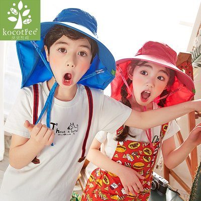 Baby's Go!! 韓國kocotree 防曬帽薄款兒童漁夫帽/海洋大沿帽/抗UV遮陽帽/農夫帽/盆帽/防曬帽