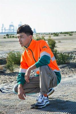 Cover Taiwan 官方直營 澳洲 TOLL 嘻哈 半拉衝鋒衣 大學T 撞色 拼接 橘色 綠色 大尺碼 (預購)