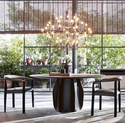 [米蘭諾家具]複刻Moteni&c 複刻圓餐桌 訂製款 質感超優 有靈魂的設計款圓桌 臺灣製造