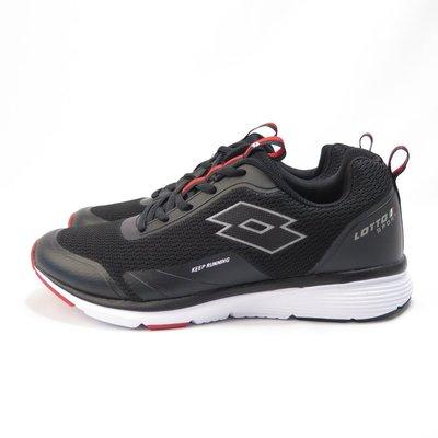 LOTTO OVERTHROW 慢跑鞋 LT0AMR2151男 黑紅【iSport愛運動】