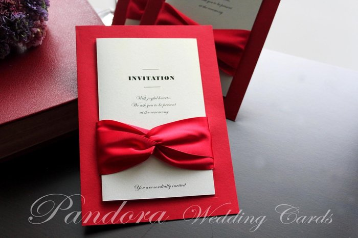 『潘朵菈精緻婚卡』影像設計喜帖 ♥ 緞帶20元喜帖系列 ♥ 喜帖編號:CW-820211